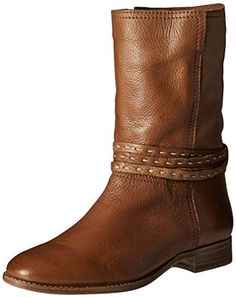 FRYE Womens Cara Pickstitch Mid Boot Whiskey 9 M US * Check this awesome product by going to the link at the image. (This is an affiliate link) Mid Calf Boots, Cowboy Boots, Whiskey, Calves, Image Link, Awesome, Check, Shoes, Fashion