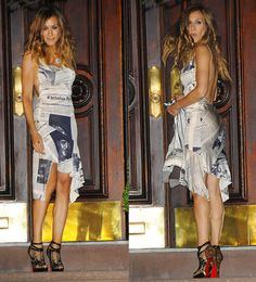 Carrie Bradshaw Dior Newspaper Dress