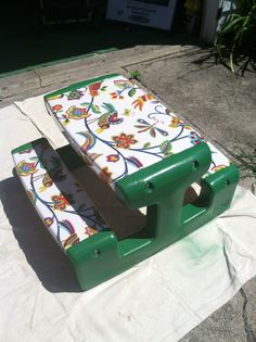 Little Tikes Picnic Table Redo I Found At The Curb 3 Cans