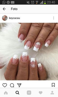 Trendy Wedding Nails For Bride Gel Almond Ideas Wedding Nails For Bride, Bride Nails, French Nail Art, French Tip Nails, Cute Nails, Pretty Nails, Nails Now, Best Acrylic Nails, Manicure And Pedicure