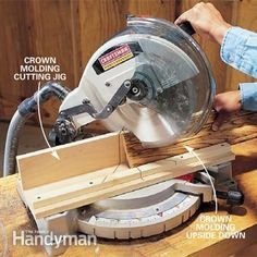 Love the idea of the crown molding jig and also the easy to build miter saw workstation. Too many times I've been searching for scrap wood to build up a pile to support longer pieces on the ends. Not very accurate.