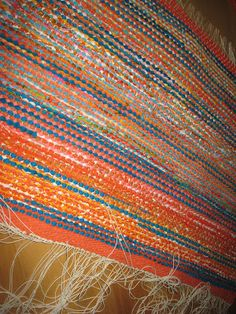 Recycled Fabric, Woven Rug, Weaving, Rag Rugs, Rug Weaves, Knit Rug, Knitting, Crocheting, Stitches
