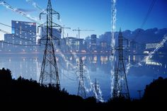 Urban Electrification Concept in Blue - Stock Photo Royalty Free Pictures, Royalty Free Stock Photos, Energy Pictures, Property Rights, Stock Imagery, Pixel Image, Us Images, Image Photography, Photo Galleries