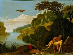 Carlo Saraceni - Bestattung des Ikarus