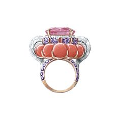 Summer cocktail ring - Pierres de Caractère - Van Cleef & Arpels