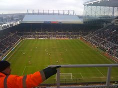 Newcastle United playing at St James' Park