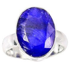 Sapphire 925 Sterling Silver Ring Jewelry s.5 SAPR1150 - JJDesignerJewelry