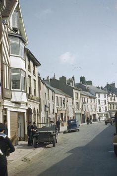 The British fishing village of Brixham, Devon.  Photo taken in 1944.  ENGLAND.