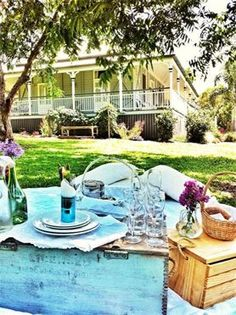 Our one of a kind picnic restaurant on the sunshine coast in Australia Picnic Restaurant, Vintage Picnic, Sunshine Coast, I Foods, Australia, Table Decorations, Picnics, My Love, Catering
