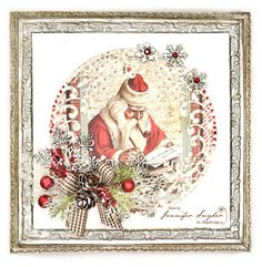 "Vintage Santa Canvas - with Maja Design      Maja Design has a new collection out for Christmas 2016 called , ""I Wish"" .  It's got Maja's..."