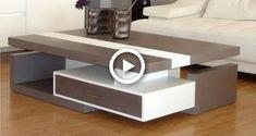 Coffee Table Design, Build A Coffee Table, Modern Glass Coffee Table, Diy Cardboard Furniture, Diy Furniture, Furniture Design, Centre Table Design, Diy Art, Center Table Living Room