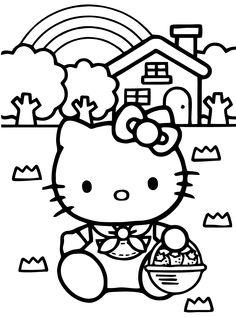 Hello kity dessin à imprimer