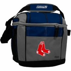 MLB Boston Red Sox 24 Can Soft Sided Cooler by Coleman. $19.99. Liner made of FDA approved material.. Holds 24 cans of your favorite beverage.. Includes carabiner and mesh carry pouches on sides.. Embroidered full team colored logo featured on front.. Features adjustable carry strap.. Show your team spirit at the game, on the shore or poolside with this Coleman branded 24 can soft sided cooler.  This highly functional cooler predominatly showcases your favorite team...