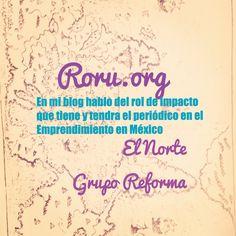 Información para emprendedores en mi blog http://roru.org/