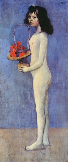 Naked girl with flower basket - 1905 - Pablo Picasso