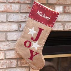 It time to decorate the Christmas Tree, fireplace and wall with a special family Christmas Stocking and bring in all the joys of the spirit of Christmas.