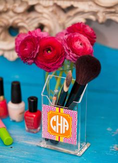 Monogram - Pencil Holder/Make Up Brush Holder
