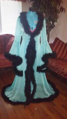 159Hey, I found this really awesome Etsy listing at https://www.etsy.com/listing/267154804/chiffon-dressing-gown-robe-with-marabou