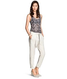 H&M Trousers in a linen blend $39.95
