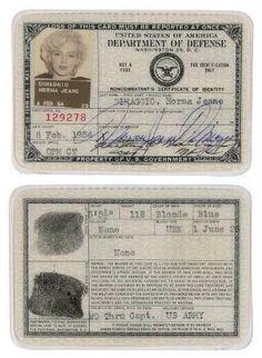 Marilyn Monroe's passaport.