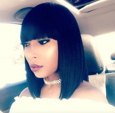 Slay those bangs @iamevelynnicole  Read the article here - http://www.blackhairinformation.com/hairstyle-gallery/slay-bangs-iamevelynnicole/