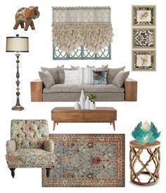 """The oriental dream"" by raffaellapapami on Polyvore featuring interior, interiors, interior design, home, home decor, interior decorating, Home Decorators Collection, Thro, Linon and Dolma"