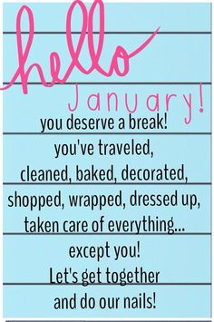 Who's ready for some girl time??  Let's try something NEW in January.... JAMBERRY!  NEW YEAR, NEW YOU, NEW Opportunity I call FAB & FUN  Home, Office, Salon, Catalog or Facebook Parties Available!  www.personalizednails.jamberrynails.net