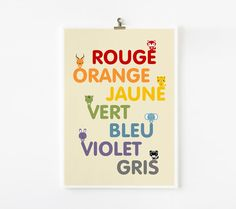 Animal Colors in French / German / Spanish / Italian / by loopzart