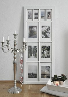 Use old windows or doors as picture frames!