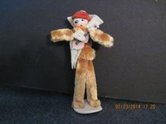 Vintage Chenille Pipe Cleaner Figure Playing Guitar | eBay
