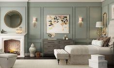 Bedroom Lamps Design, Bedroom Wall, Bedroom Decor, Home Office Decor, Home Decor, Console, Guest Bedrooms, Luxurious Bedrooms, Modern Interior Design