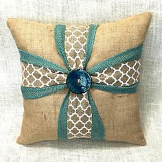Your room will look so lovely when accented by this beautiful burlap cross pillow! Whether for you or a special friend, this unique cross pillow will surely del