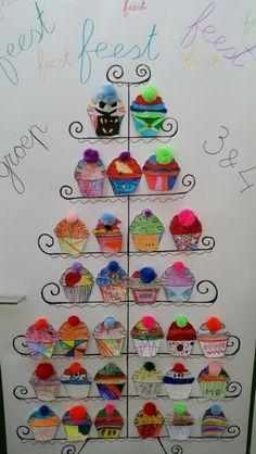 Cup cake toren knutselen. #kinderboekenweek #feest #groep3 #groep4 #plankier #Zoetermeer #JufEvelien