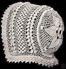 Vintage Baby Cap Hat Bonnet Star Crochet PATTERN 1915