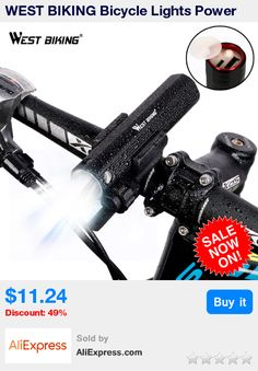 WEST BIKING Bicycle Lights Power Bank Waterproof USB Rechargeable Bike Light Flashlight 2000mAh 3 Modes MTB Bikes Cycling Lights * Pub Date: 15:23 Jul 12 2017