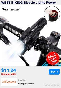WEST BIKING Bicycle Lights Power Bank Waterproof USB Rechargeable Bike Light Flashlight 2000mAh 3 Modes MTB Bikes Cycling Lights * Pub Date: 15:23 Jul 12 2017