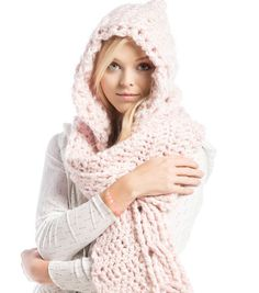 How To Crochet A Hooded Scarf - free pattern at JoAnns.