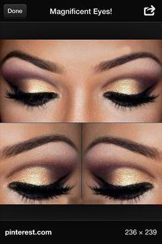 Gold & rose gold smokey eye Beautiful for dark brown eyes.