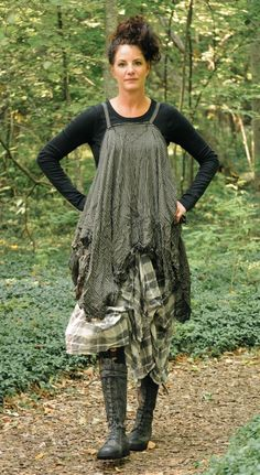 Ewa i Walla Patna Dress with Rundholz Black Label Triumph Boot Keep the top sleek Magnolia Pearl, Beautiful Outfits, Cool Outfits, Look Boho Chic, Mori Fashion, Altered Couture, Look Vintage, Shabby, Kinds Of Clothes