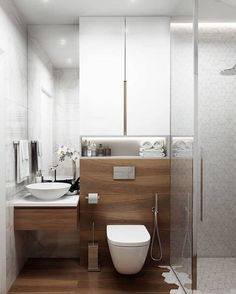 Dreaming of a luxurious or designer master bathroom? We've gathered together lots of gorgeous master bathroom ideas for small or large budgets, including baths, showers, sinks and basins, plus bathroom decor some ideas. Modern Bathrooms Interior, Modern Master Bathroom, Modern Bathroom Design, Bathroom Interior Design, Farmhouse Bathrooms, Modern Farmhouse, Toilet And Bathroom Design, French Bathroom, Minimal Bathroom