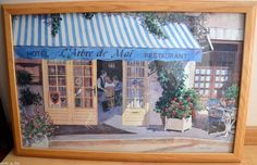 Wall Art Framed Picture French Cafe France #Impressionism