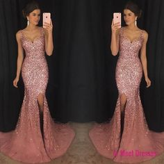 Crystal Beaded Prom Dress Mermaid ,Long Formal Dress,Mermaid Evening Dress,Pageant Dresses PD20188563