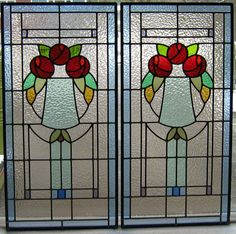 Artwork Kitchen Doors Panel Set Mackintosh Roses Stained Glass