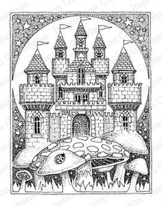 Impression Obsession Rubber Stamps Mushroom Castle