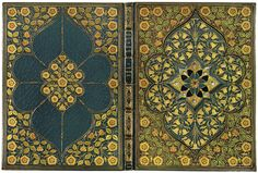 The Lady of Shalott....(Lord)Alfred Tennyson c.1910...manuscript on vellum,jewelled and illuminated by A.Sangorski...front and back