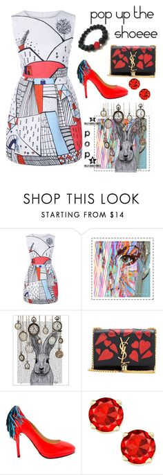 """""""pop up the redd"""" by ammuluharshini123 ❤ liked on Polyvore featuring FabFunky and Yves Saint Laurent"""