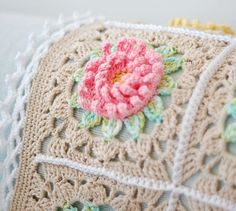 Crochet Pattern: English Garden Baby Blanket