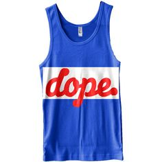 The Dope. Gameâ Track Tank Top ❤ liked on Polyvore