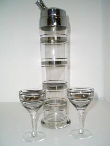 Vintage cocktail shaker set