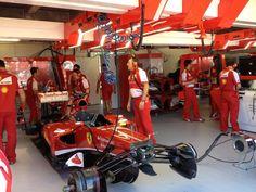 Ferrari-garage before FP2 - 2013 Monaco GP